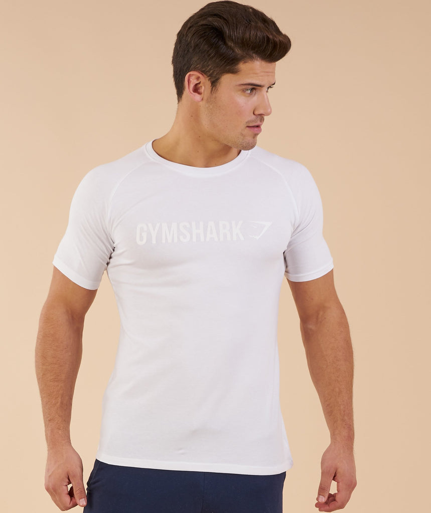 Gymshark Apollo T-Shirt - White 5