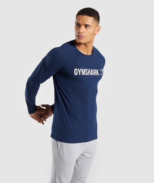 2e1c27dbf60 ... Gymshark Apollo Long Sleeve T-Shirt - Blue 4 ...