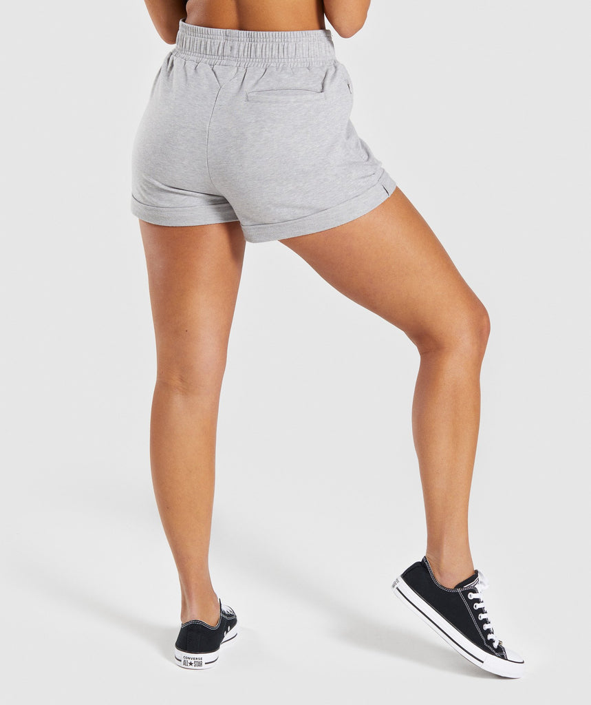 Gymshark Ark High Waisted Shorts - Light Grey Marl 2