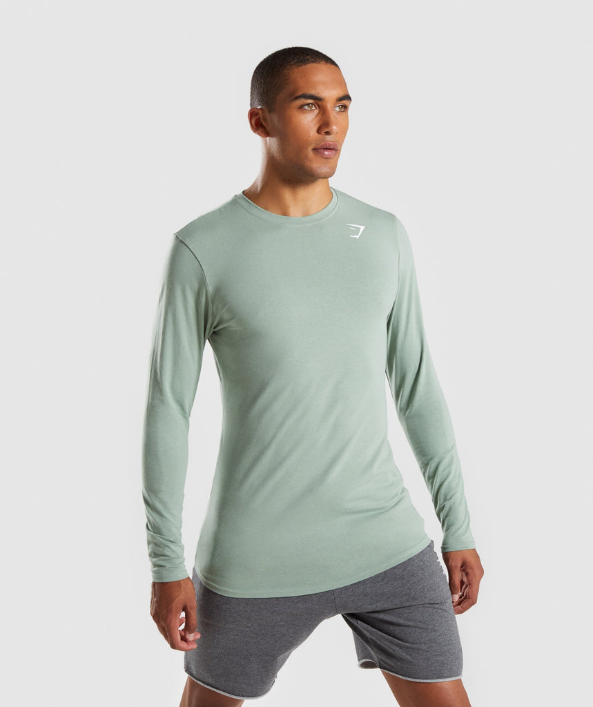 Gymshark Ark Long Sleeve T-Shirt - Pale Green 4
