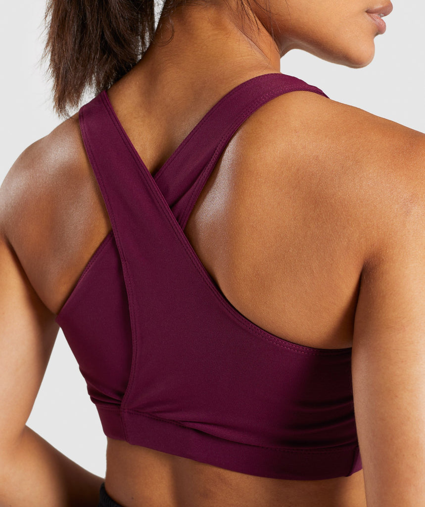 Gymshark Ark Sports Bra - Dark Ruby 5