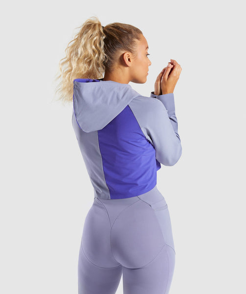 Gymshark Asymmetric Performance Hoodie - Steel Blue/Indigo 1
