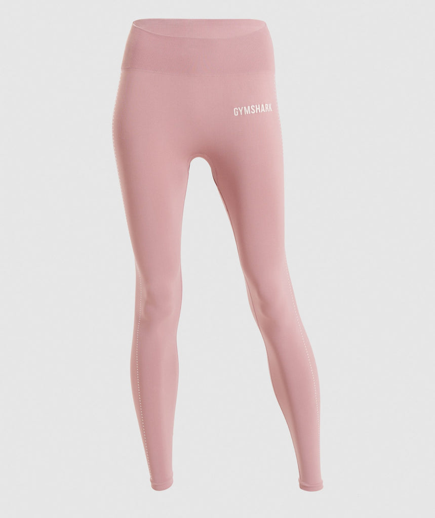 Gymshark Breeze Lightweight Seamless Tights - Pebble Pink 1