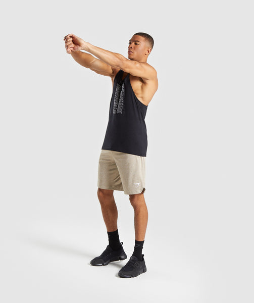 Gymshark Basic Training Shorts - Driftwood Brown Marl 3