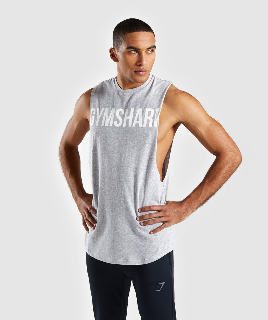 Gymshark Bold Graphic Drop Armhole Tank - Grey 1