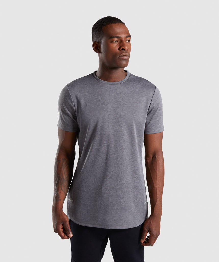 Gymshark Breathe T-Shirt - Smokey Grey Marl 1