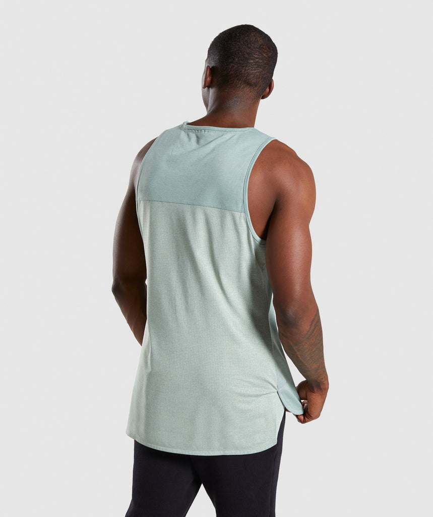 Gymshark Breathe Tank - Pale Green 2