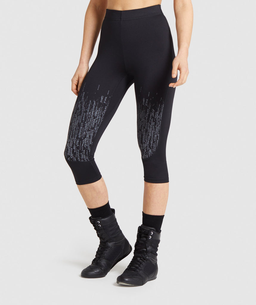 Gymshark Combat Cropped Leggings - Black 1