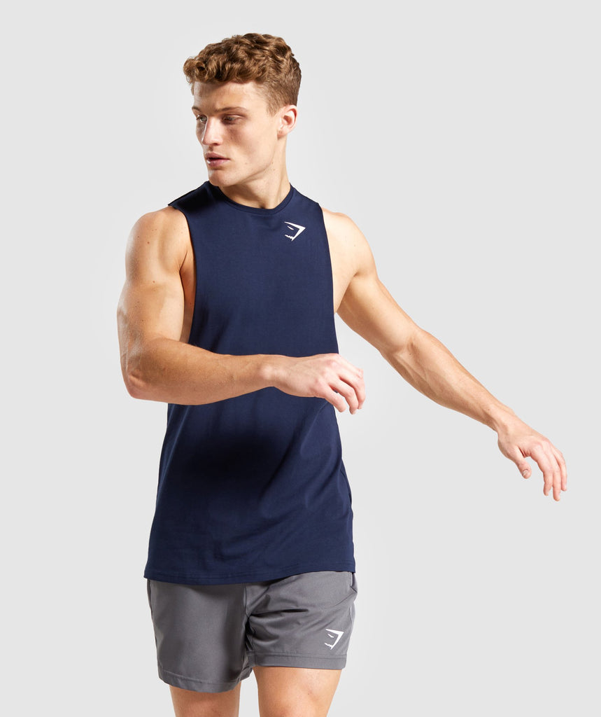 Gymshark Critical Drop Armhole Tank - Dark Blue 1