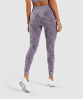 Gymshark Camo Seamless Leggings - Lavender Grey 8