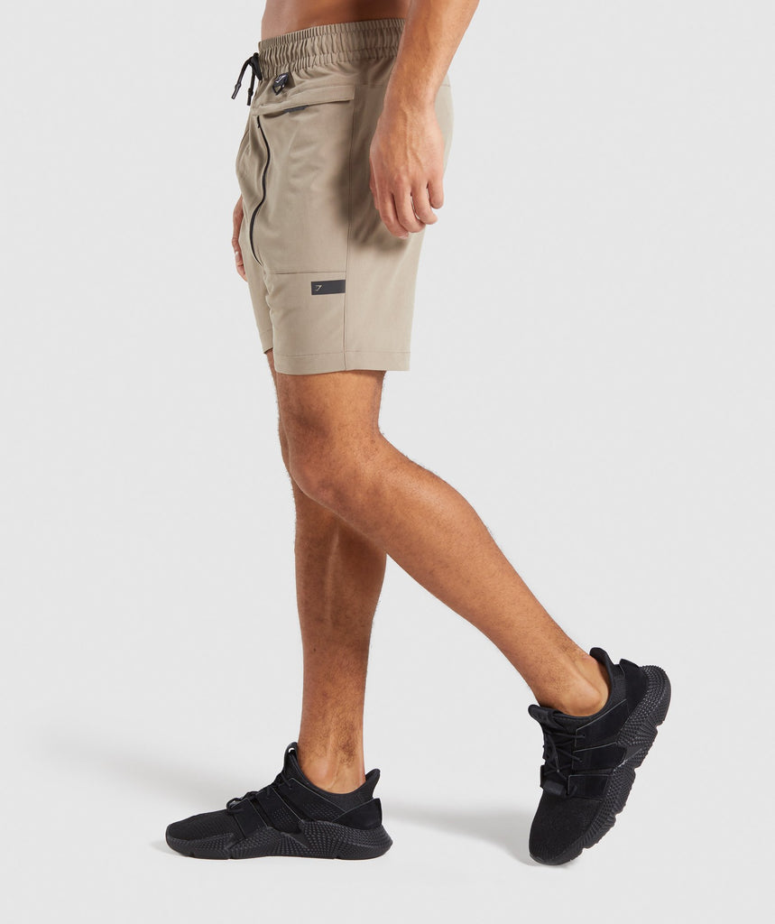 Gymshark Cargo Tech Shorts - Driftwood Brown 2