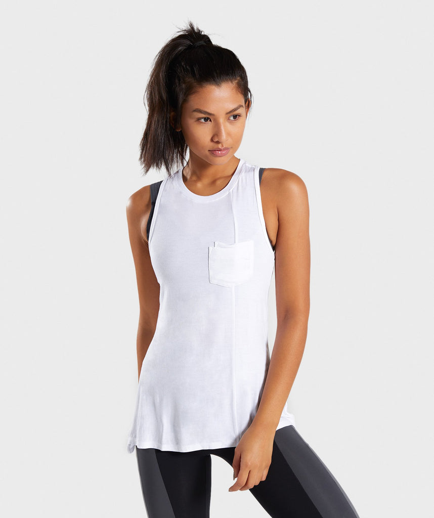 Gymshark Colour Block Vest - White 1