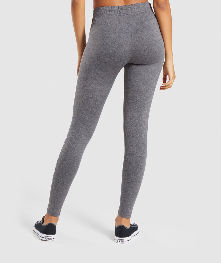 Gymshark Core Leggings - Charcoal Marl 2