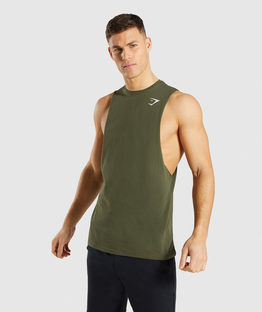 Gymshark Critical Drop Armhole Tank - Green 1