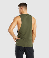Gymshark Critical Drop Armhole Tank - Green 8