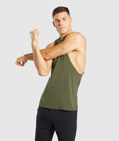 Gymshark Critical Drop Armhole Tank - Green 9