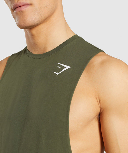 Gymshark Critical Drop Armhole Tank - Green 4