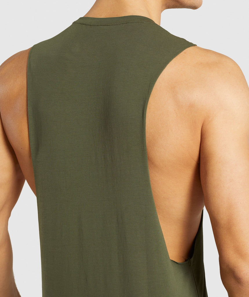 Gymshark Critical Drop Armhole Tank - Green 6