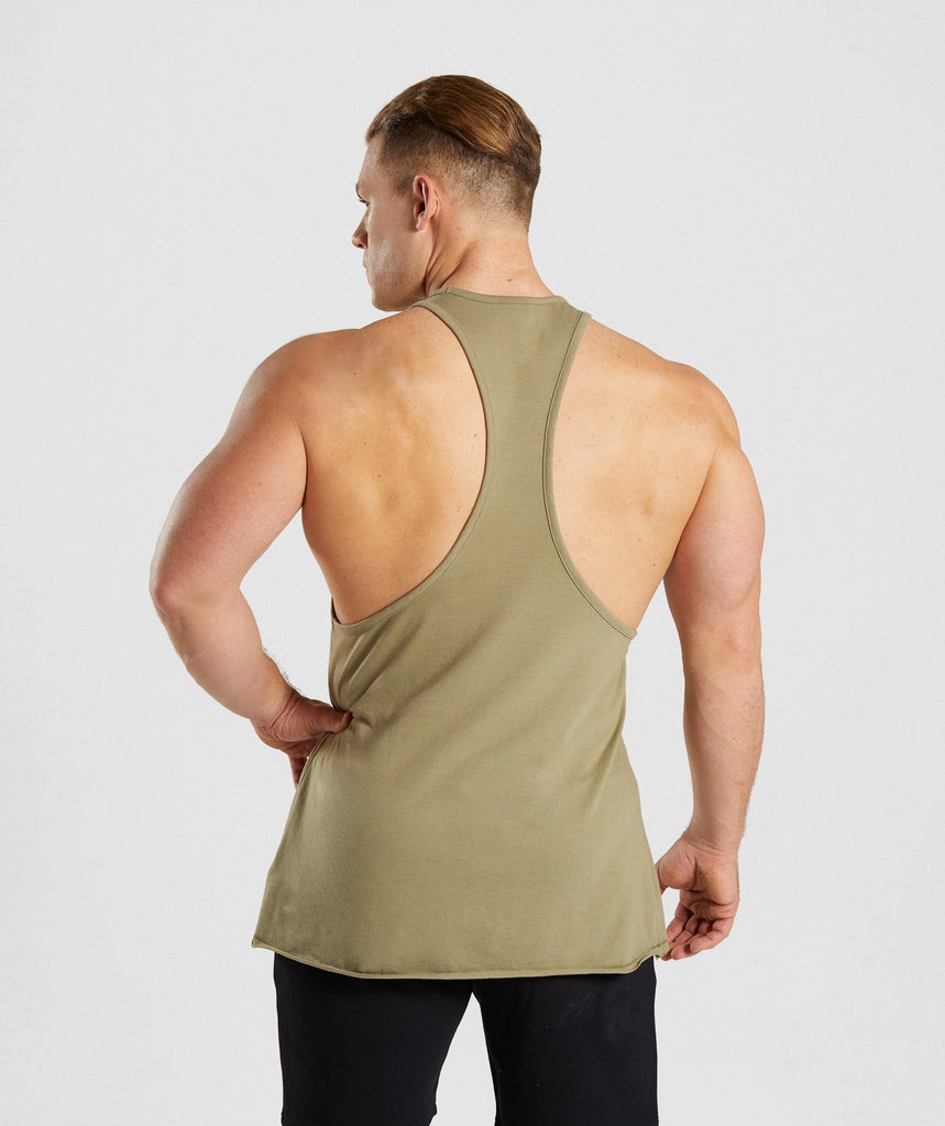 Gymshark Crucial Stringer - Light Khaki 2