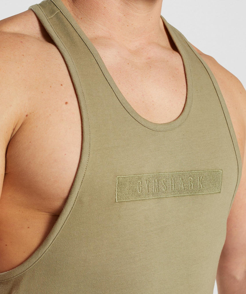 Gymshark Crucial Stringer - Light Khaki 5