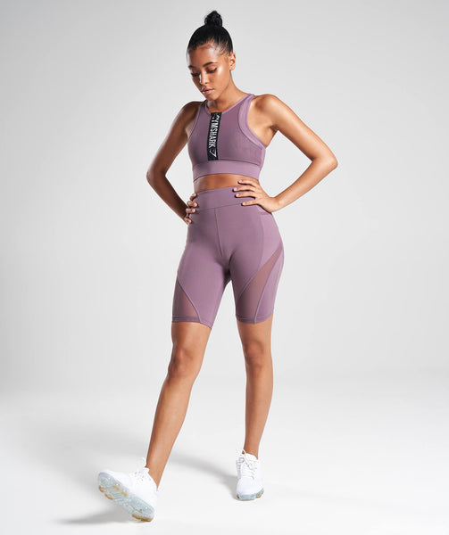 Gymshark Elevate Cycling Shorts - Purple Wash 2