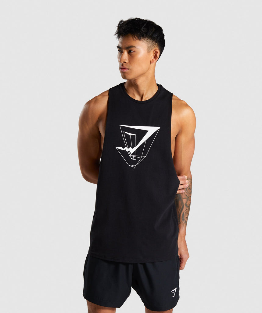 Gymshark Dimension Tank - Black 1