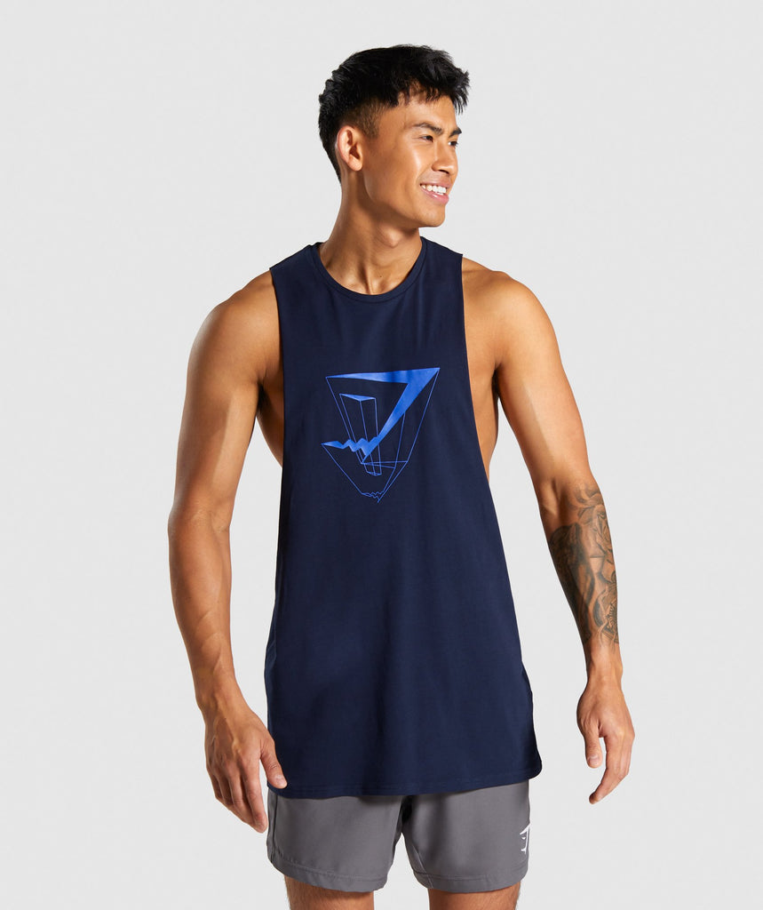 Gymshark Dimension Tank - Dark Blue 1