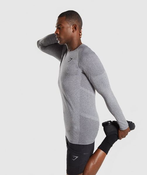 Gymshark Define Seamless Long Sleeve T-Shirt - Smokey Grey Marl 2