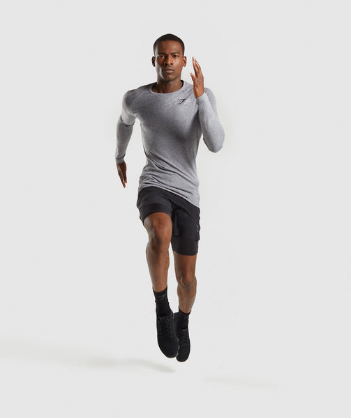 Gymshark Define Seamless Long Sleeve T-Shirt - Smokey Grey Marl 3