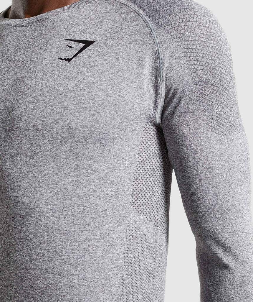 Gymshark Define Seamless Long Sleeve T-Shirt - Smokey Grey Marl 6