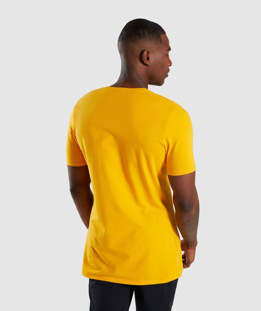 Gymshark Distort T-Shirt - Citrus Yellow 2