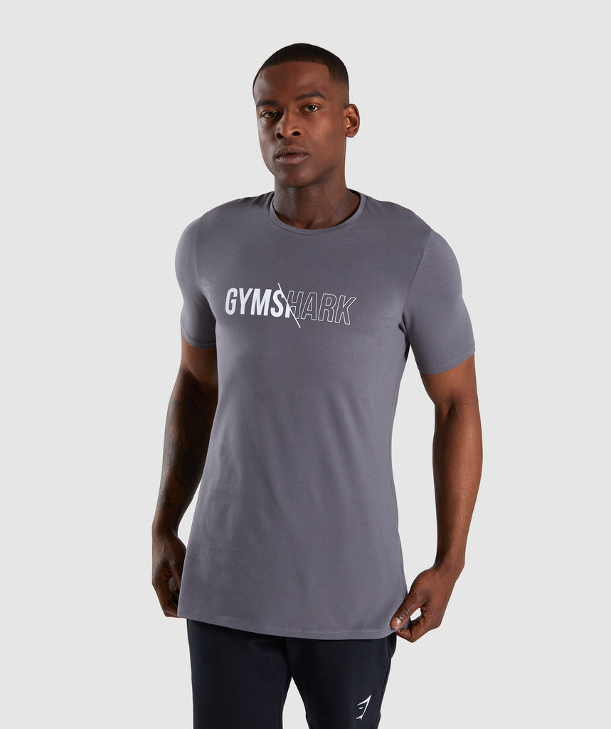 Gymshark Distort T-Shirt - Smokey Grey 1