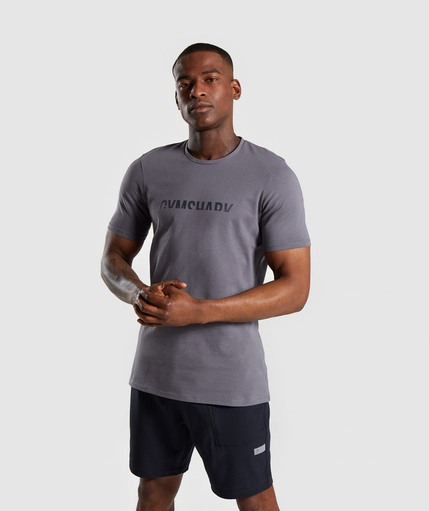 Gymshark Divide T-Shirt - Smokey Grey 1