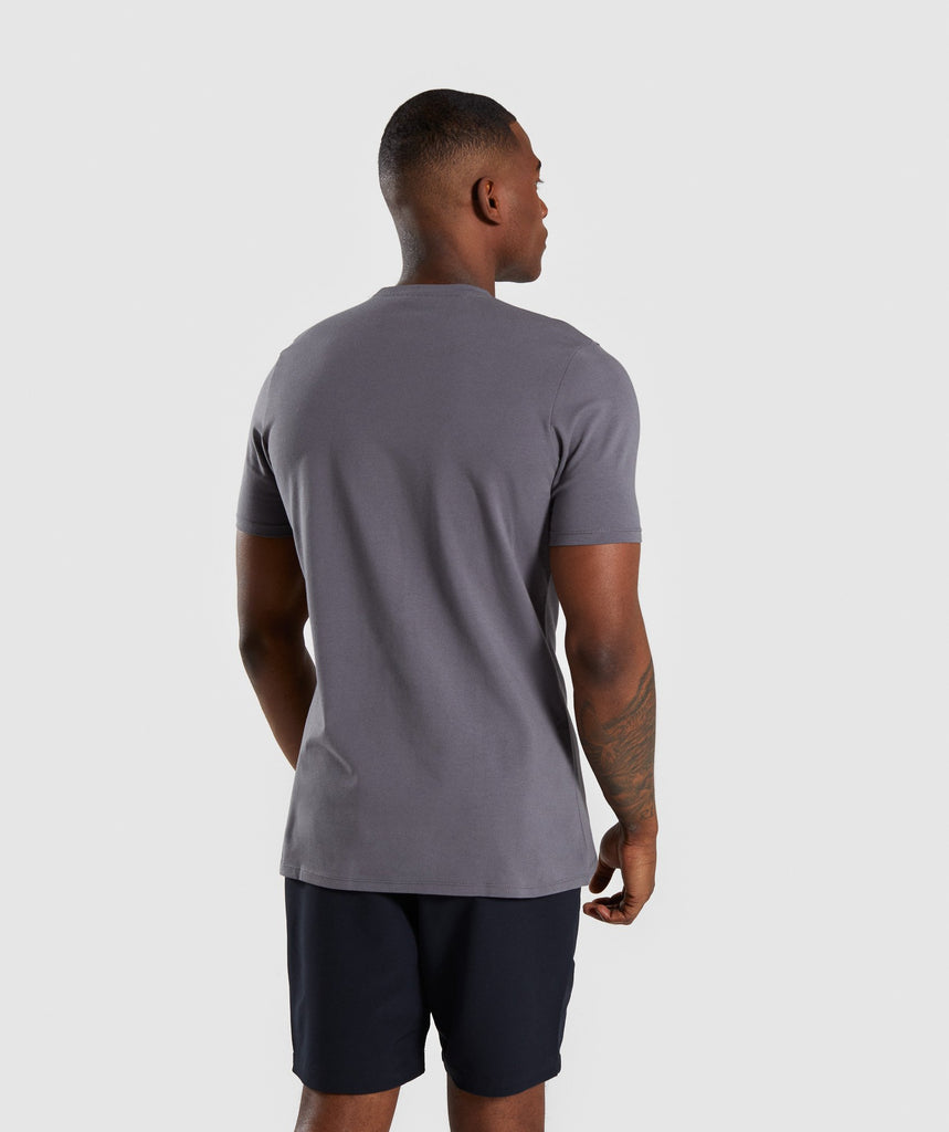 Gymshark Divide T-Shirt - Smokey Grey 2