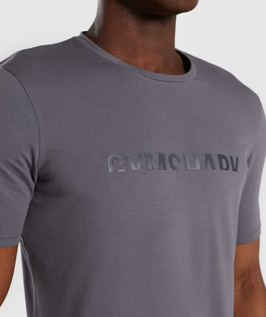 Gymshark Divide T-Shirt - Smokey Grey 6