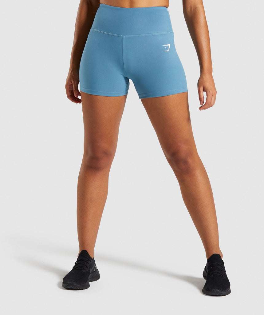 Gymshark Dreamy High Waisted Shorts - Teal 1