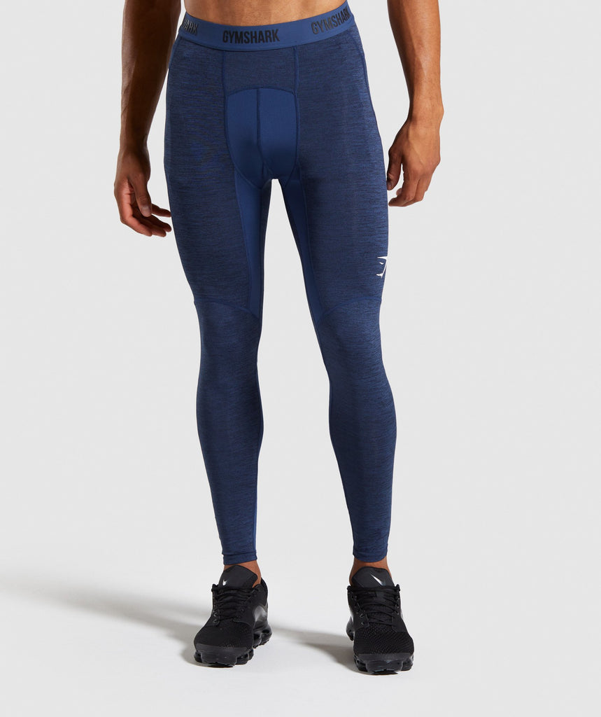 Gymshark Element+ Baselayer Leggings - Dark Blue Marl 1