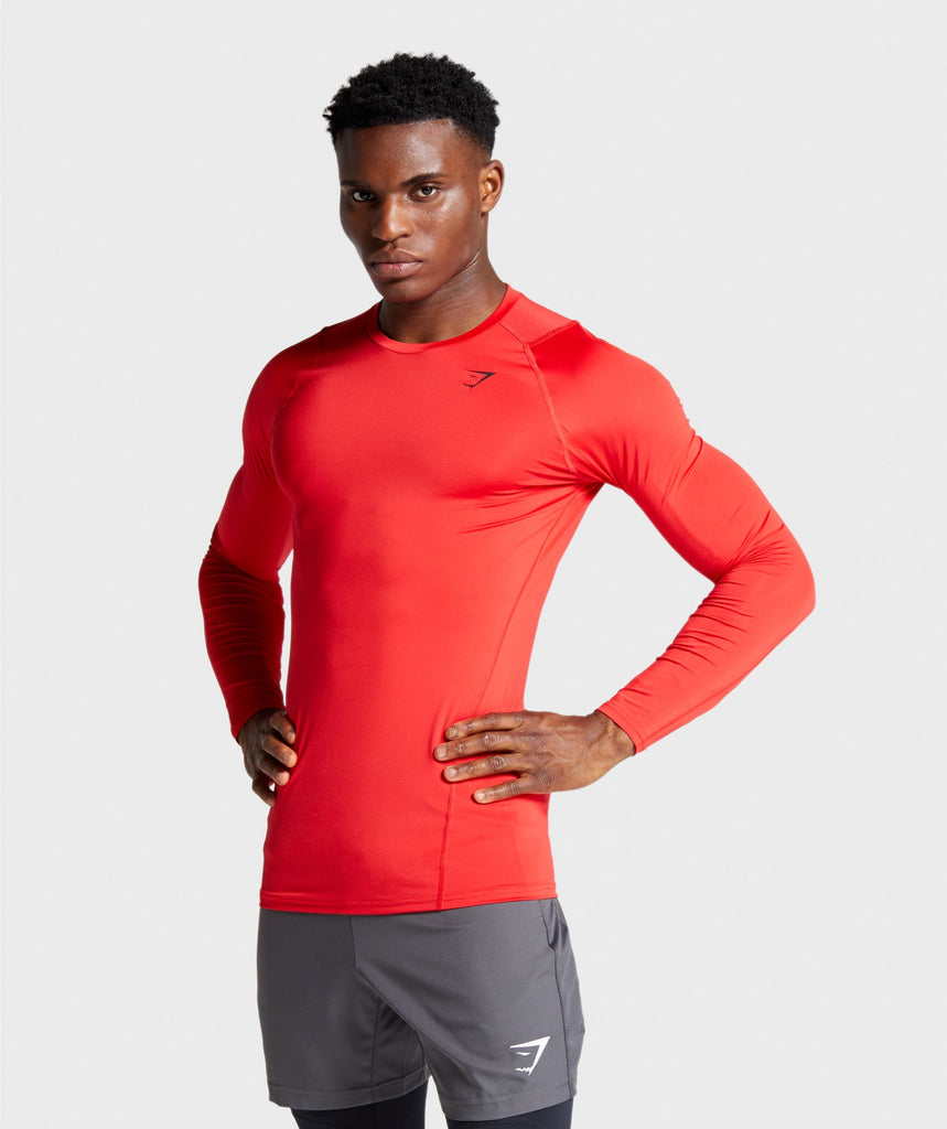 Gymshark Element Baselayer Long Sleeve T-shirt - Red 1