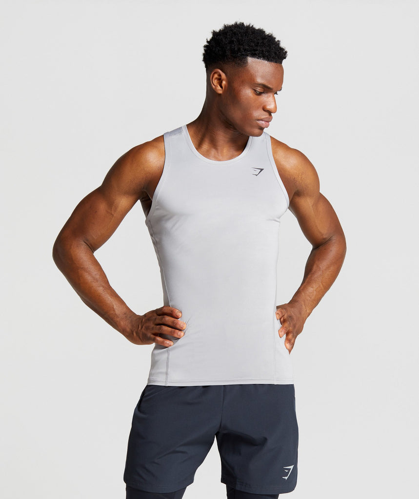 Gymshark Element Baselayer Tank - Light Grey 1