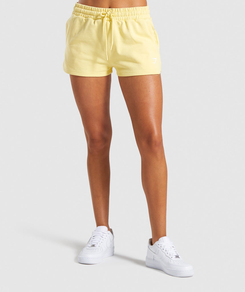 Gymshark Ease Shorts - Yellow 1