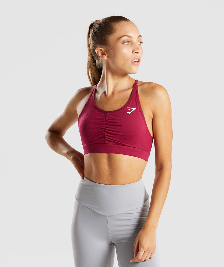 Gymshark Ease Sports Bra - Beet 1