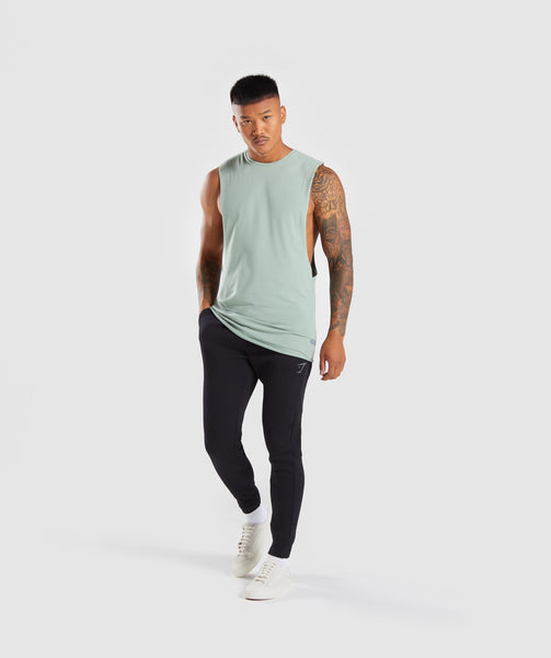 Gymshark Eaze Sleeveless T-Shirt - Pale Green 3