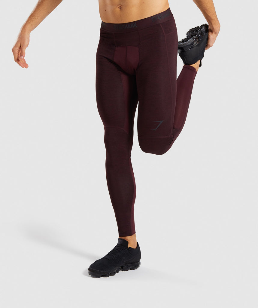 Gymshark Element+ Baselayer Leggings - Ox Red Marl 1