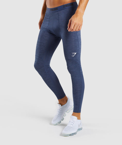 Gymshark Element+ Baselayer Leggings - Sapphire Blue Marl 4
