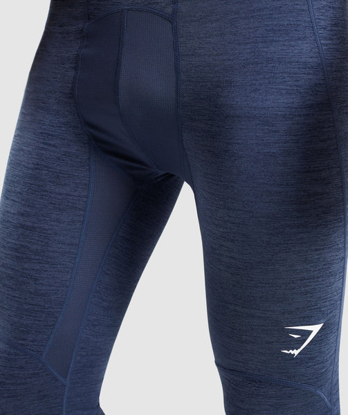 Gymshark Element+ Baselayer Leggings - Sapphire Blue Marl 3