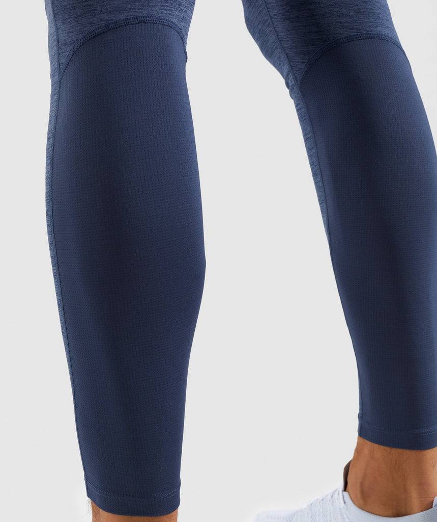Gymshark Element+ Baselayer Leggings - Sapphire Blue Marl 5