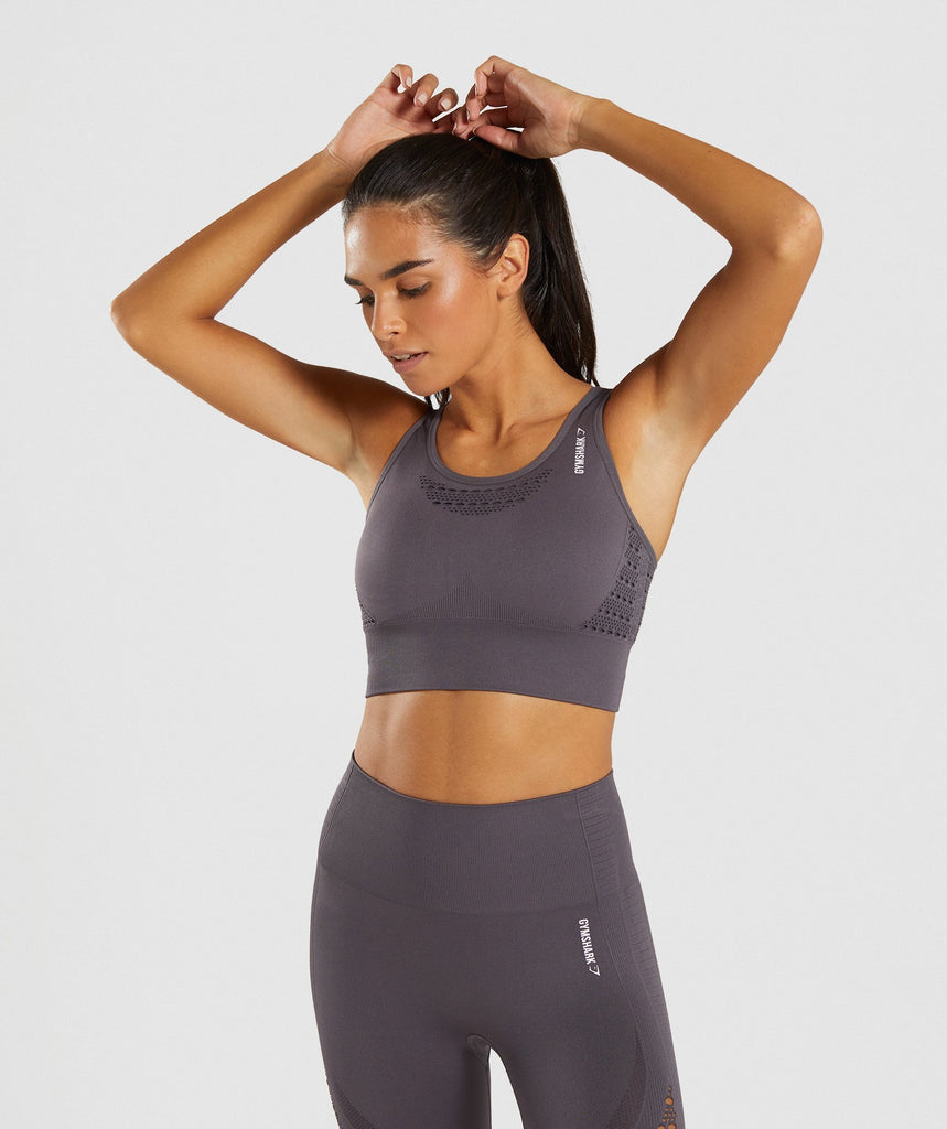Gymshark Energy+ Seamless Crop Top - Slate Lavender 1