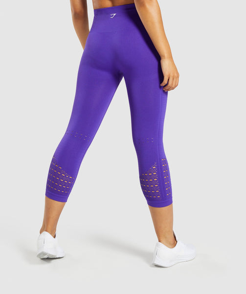 Gymshark Energy+ Seamless Cropped Leggings - Indigo 1