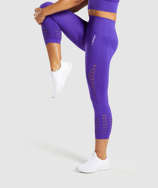 Gymshark Energy+ Seamless Cropped Leggings - Indigo 2