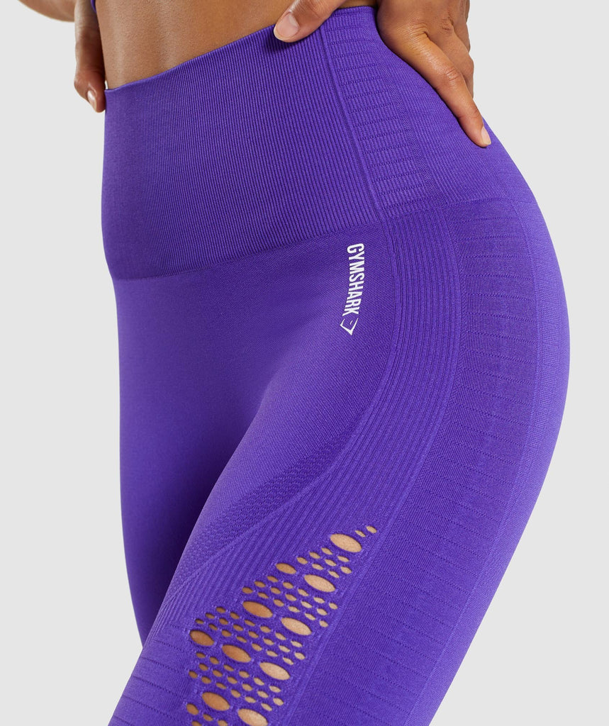 Gymshark Energy+ Seamless Cropped Leggings - Indigo 5